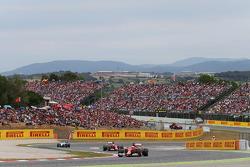 Kimi Raikkonen, Ferrari F14-T ve takım arkadaşı Fernando Alonso, Ferrari F14-T