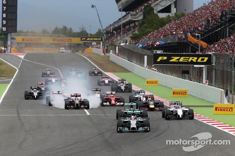 Partenza della gara, Lewis Hamilton, Mercedes AMG F1 Team