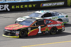 Jamie McMurray, Chip Ganassi Racing, Chevrolet Camaro McDonald's and Gray Gaulding, BK Racing, Toyota Camry Earthwater