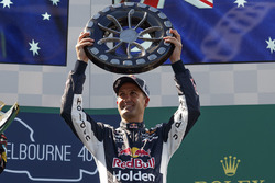 Podium: Jamie Whincup, Triple Eight Race Engineering Holden with the Larry Perkins Trophy