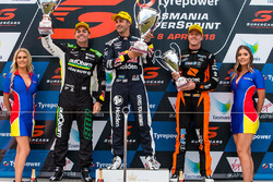 Podium: race winner Jamie Whincup, Triple Eight Race Engineering Holden, second place Craig Lowndes, Triple Eight Race Engineering Holden, third place James Courtney, Walkinshaw Andretti United Holden