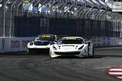 #31 TR3 Racing Ferrari 488 GT3:: Daniel Mancinelli, #24 Alegra Motorsports Porsche 911 GT3 R: Michael Christensen