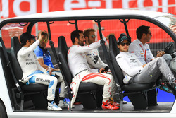 Nick Heidfeld, Mahindra Racing, Nicolas Prost, Renault e.Dams, Sam Bird, DS Virgin Racing, Jose Maria Lopez, Dragon Racing, Nelson Piquet Jr., Jaguar Racing, on the drivers parade