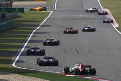 Sergey Sirotkin, Williams FW41 Mercedes, Stoffel Vandoorne, McLaren MCL33 Renault, Charles Leclerc, Sauber C37 Ferrari,Brendon Hartley, Toro Rosso STR13 Honda, Pierre Gasly, Toro Rosso STR13 Honda, and Marcus Ericsson, Sauber C37 Ferrari