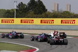 Brendon Hartley, Toro Rosso STR13 Honda, Marcus Ericsson, Sauber C37 Ferrari, Pierre Gasly, Toro Rosso STR13 Honda, and Charles Leclerc, Sauber C37 Ferrari