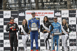 Will Power, Team Penske Chevrolet, Alexander Rossi, Andretti Autosport Honda, Ed Jones, Chip Ganassi Racing Honda, podio
