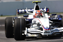 Robert Kubica, BMW Sauber F1.08 celebrates his maiden victory