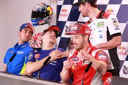 Alex Rins, Team Suzuki MotoGP, Maverick Viñales, Yamaha Factory Racing, Cal Crutchlow, Team LCR Honda, Andrea Dovizioso, Ducati Team