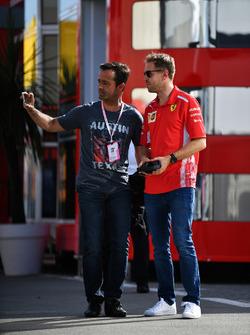 Sebastian Vettel, Ferrari, Pedro Lamy selfie