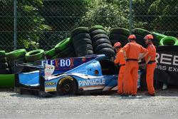 #25 Algarve Pro Racing Ligier JSP217 - Gibson: Mark Patterson, Ate De Jong, Tacksung Kim, crash