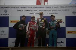 Podio Gara 2: il secondo classificato Enzo Fittipaldi, Prema Theodore Racing, il vincitore Frederik Vesti, Van Amersfoort Racing BV, il terzo classificato Giorgio Carrara, Jenzer Motorsport