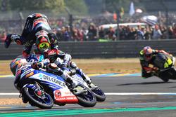 Marco Bezzecchi, Prustel GP, Jorge Martin, Del Conca Gresini Racing, Fabio Di Giannantonio, Del Conca Gresini Racing Moto3 crash