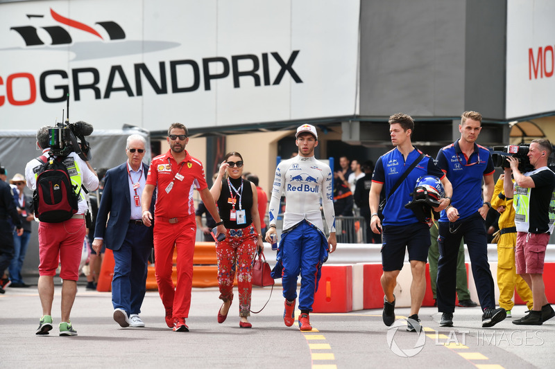Piero Lardi Ferrari, Ferrari Vice President and Pierre Gasly, Scuderia Toro Rosso