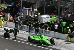 Danica Patrick, Ed Carpenter Racing Chevrolet, pit stop