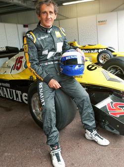 Alain Prost in seinem Renault F1 von 1983