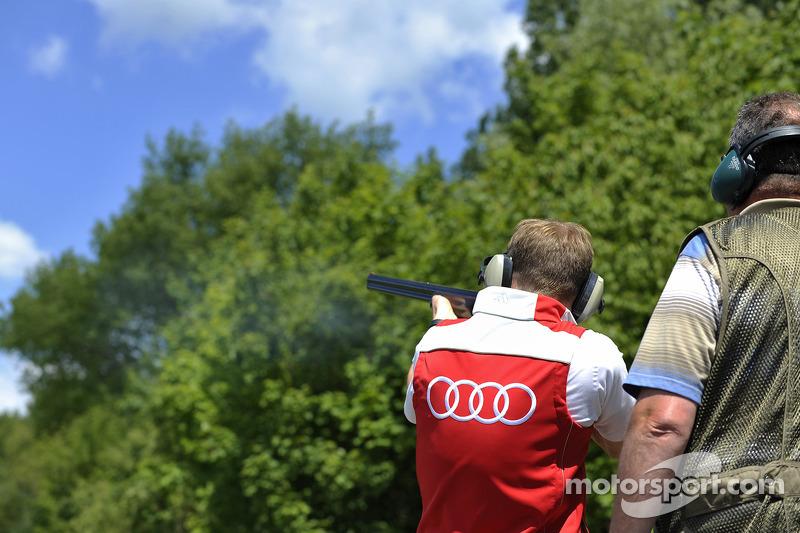 Tiro al piattello con Mattias Ekstrom, Audi Sport Team Abt Sportsline, Audi RS 5