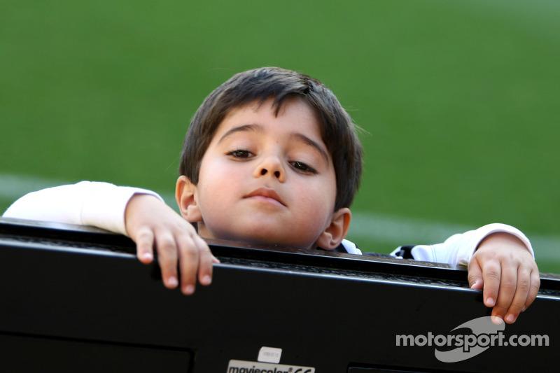 Felipinho Massa, Felipe Massa'nın oğlu, Williams, yardım maçında