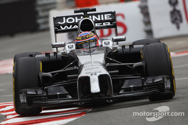 jenson button, mclaren mp4-29 bei gp monaco - formel 1 fotos