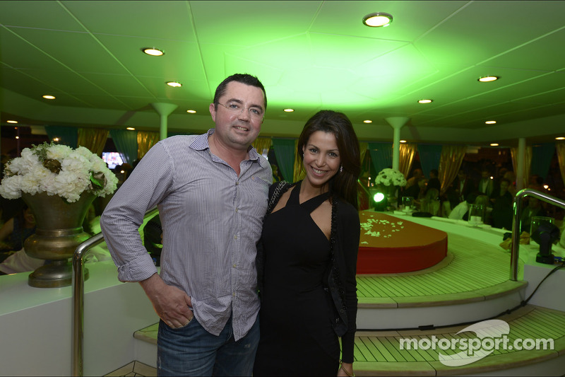 Eric Boullier, McLaren Racing Director with his wife Tamara at the Signature Monaco Party on the Ind