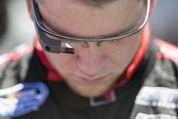 Chris Buescher wears Google Glass