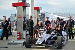 The car of Kurt Busch, Andretti Autosport Honda