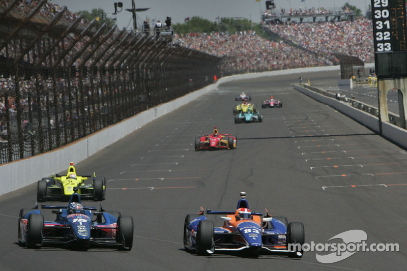 Graham Rahal, Rahal Letterman Racing Honda e Charlie Kimball, Novo Nordisk Chip Ganassi Racing Chevr