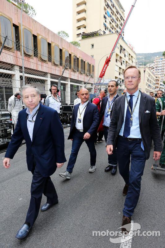 (Esquerda para direita): Jean Todt, presidente da FIA e Ari Vatanen, ex-campeão mundial de Rally, no