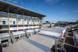 Le Mans paddock overview