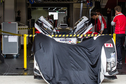 #2 Audi Sport Team Joest Audi R18 E-Tron Quattro inside a restricted area