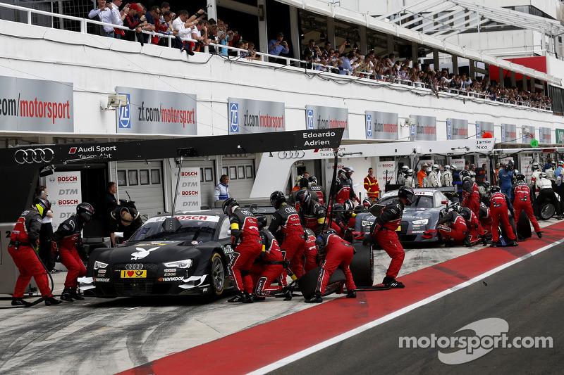 Adrien Tambay, Audi Sport Team Abt Sportsline Audi RS 5 DTM and Nico M¸ller, Audi Sport Team Rosberg