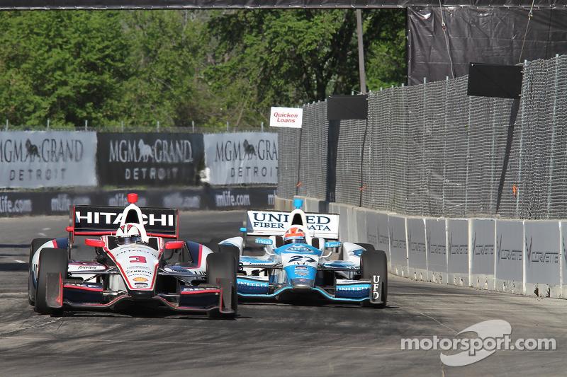 Helio Castroneves, Penske Chevrolet Takımı James Hinchcliffe, Andretti Autosport Honda