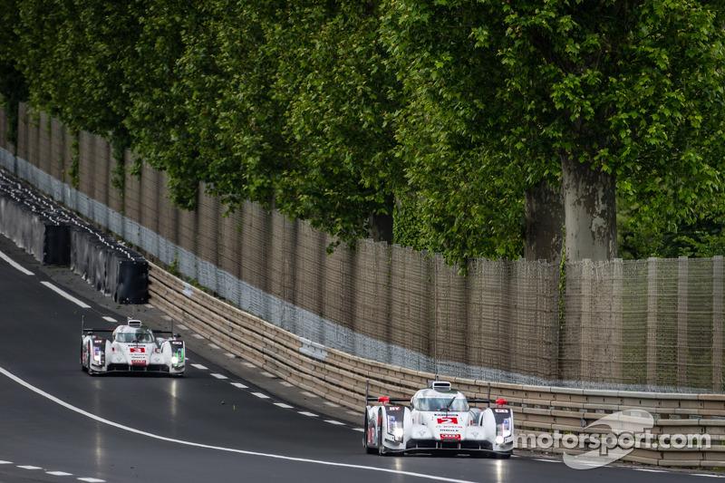 #2 Audi Sport Team Joest Audi R18 E-Tron Quattro: Marcel Fässler, Andre Lotterer, Benoit Tréluyer, #