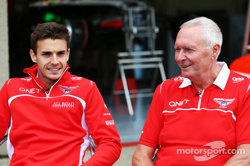 (L to R): Jules Bianchi, Marussia F1 Team and John Booth, Marussia F1 Team Team Principal
