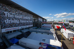 Overview of the paddock area