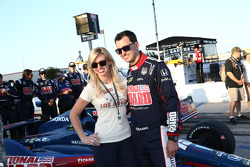 Graham Rahal with girlfriend Courtney Force