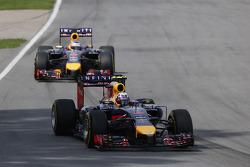Daniel Ricciardo, Red Bull Racing RB10 y Sebastian Vettel, Red Bull Racing RB10