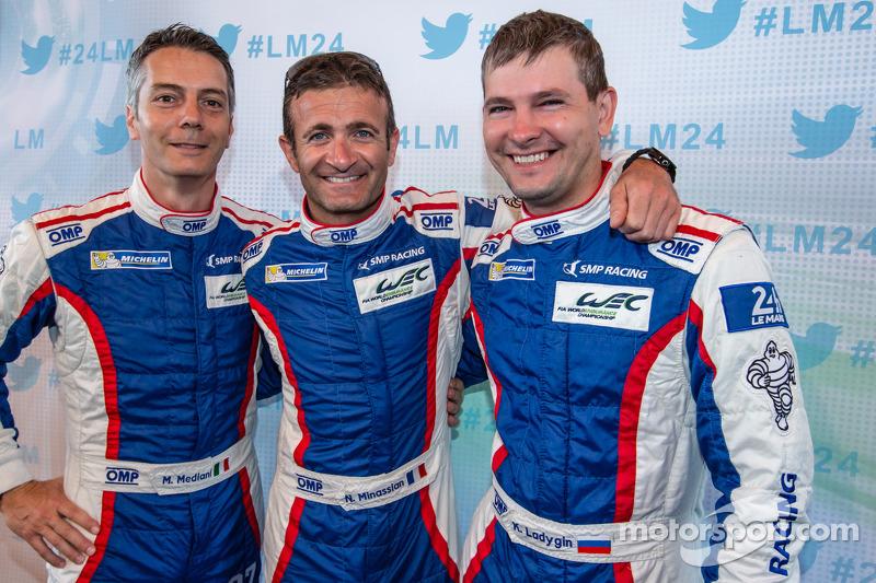 Maurizio Mediani, Nicolas Minassian e Kirill Ladygin