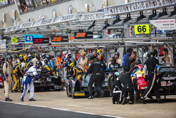 Pit lane during Wednesday practice