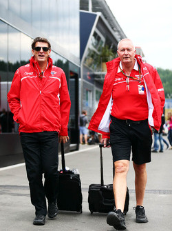 (L to R): Graeme Lowdon, Marussia F1 Team Chief Executive Officer with John Booth, Marussia F1 Team Team Principal