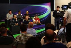 The FIA Press Conference, McLaren Racing Director; Monisha Kaltenborn, Sauber Team Principal; Franz Tost, Scuderia Toro Rosso Team Principal; Toto Wolff, Mercedes AMG F1 Shareholder and Executive Director; Christian Horner, Red Bull Racing Team Principal;