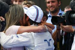 Felipe Massa, Williams com Felipinho Massa,e Rafaela Bassi (BRA)