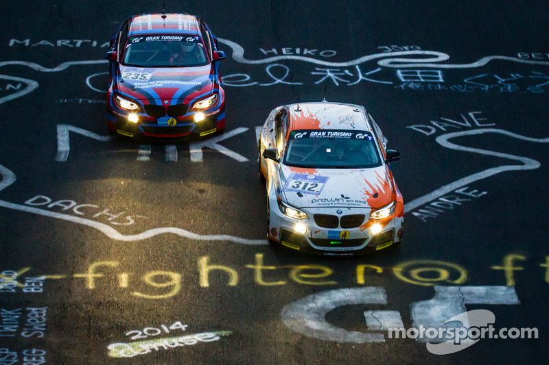 #312 BMW M235i Racing: Jörg Wiskirchen, Carsten Welschar, David Ackermann, #235 BMW Motorsport BMW M