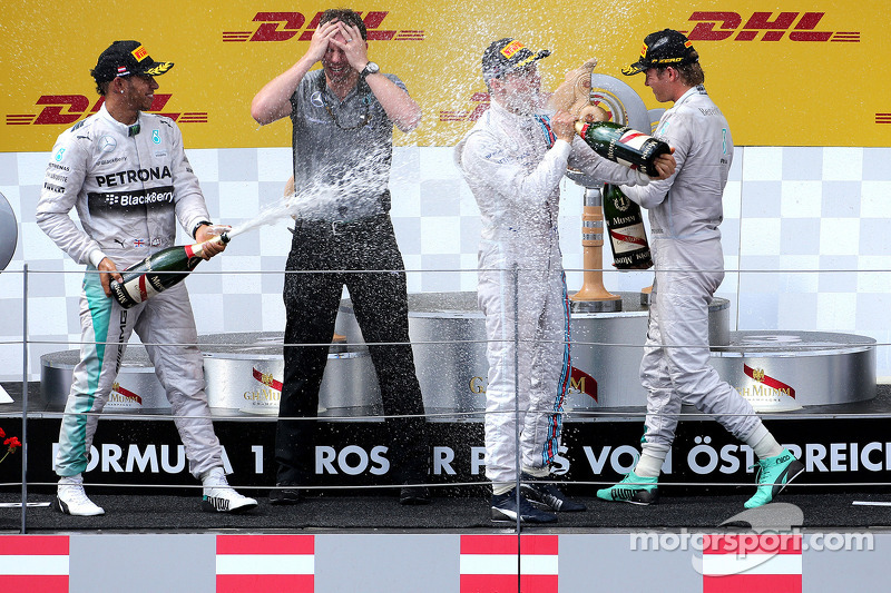Podium: Lewis Hamilton, Mercedes AMG F1 Team, Nico Rosberg, Mercedes AMG F1 Team; Valtteri Bottas, Williams F1 Team