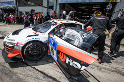 Pit stop for #10 Abt Racing Audi R8 LMS ultra: Christopher Mies, Christer Jöns, Niclas Kentenich, Dominik Schwager