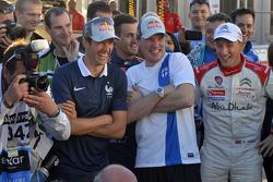 Sébastien Ogier, Jari-Matti Latvala e Kris Meeke