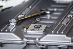 #1 Black Falcon Mercedes-Benz SLS AMG GT3 engine detail