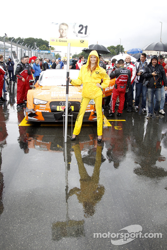 Gridgirl de Jamie Green, Audi Sport Team Abt Sportsline Audi RS 5 DTM