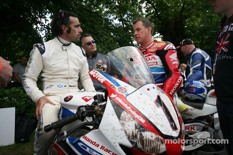 Dario Franchitti and John McGuinness