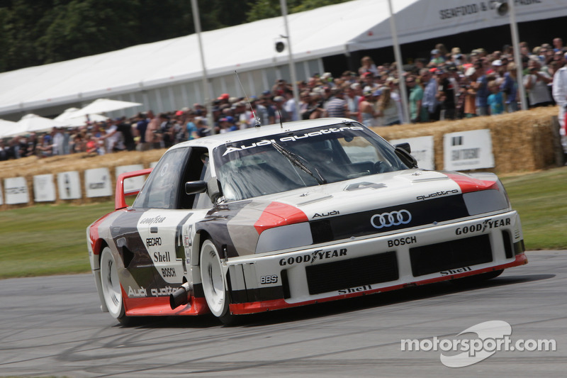Audi 90 quattro IMSA GTO demonstrated by Andre Lotterer at the 2014 Goodwood Festival of Speed.