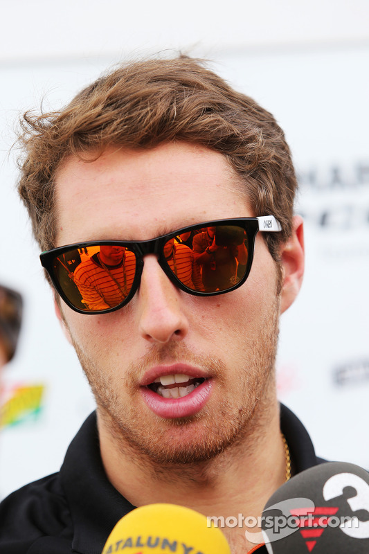 Daniel Juncadella, Sahara Force India F1 Team Test and Reserve Driver with the media